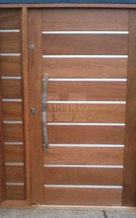Portas de entrada em madeira maciça - Foto: 29