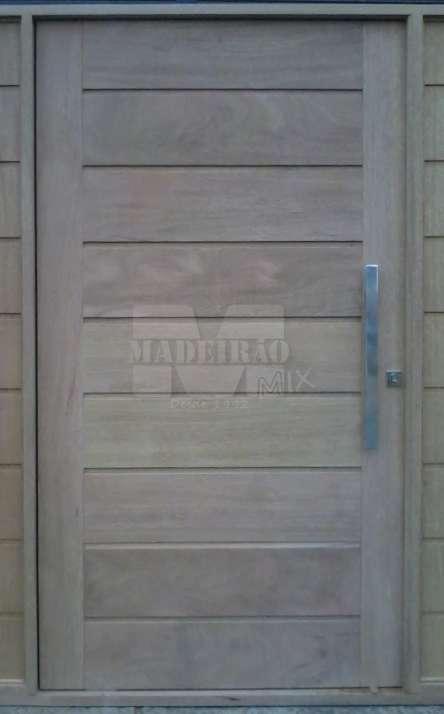 Portas de entrada em madeira maciça - Foto: 31