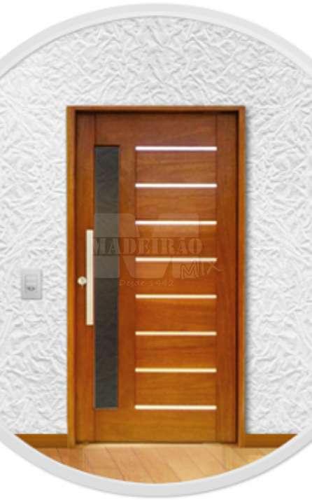 Portas de entrada em madeira maciça - Foto: 35