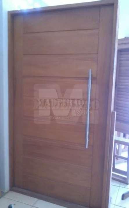 Portas de entrada em madeira maciça - Foto: 3