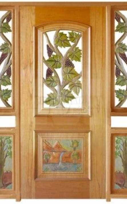 Portas de entrada em madeira maciça - Foto: 19