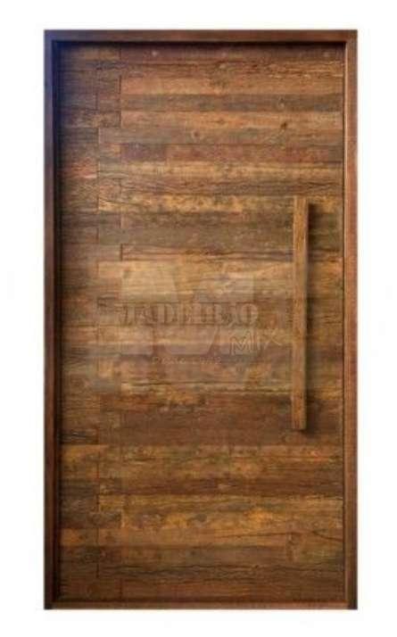 Portas de entrada em madeira maciça - Foto: 16