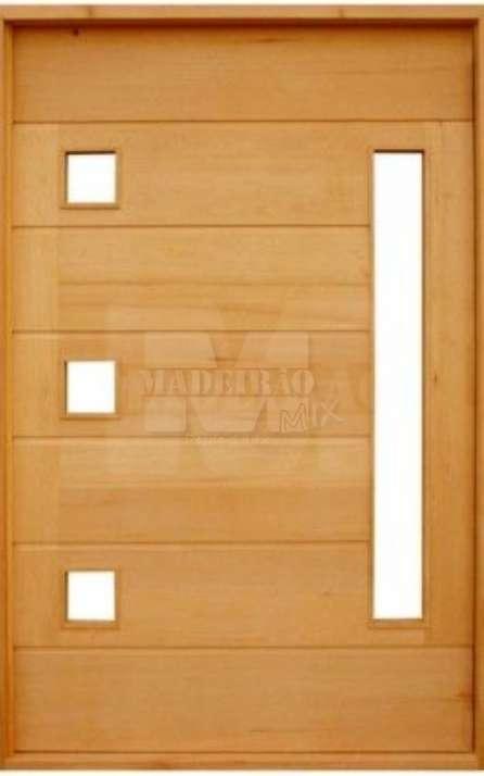 Portas de entrada em madeira maciça - Foto: 6