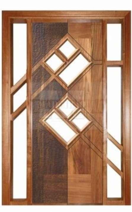 Portas de entrada em madeira maciça - Foto: 15